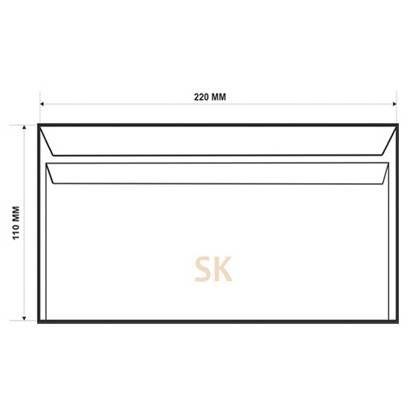 Конверт DL SK, 110x220