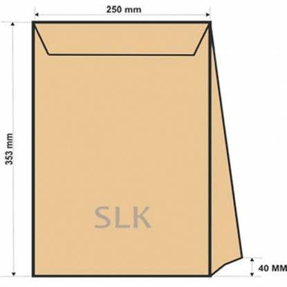 Конверт B4 SLK крафт (250x353x40) с расширяющимся дном