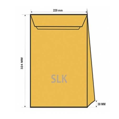 Конверт C4 SLK крафт (229*324*40), с расширяющимся дном