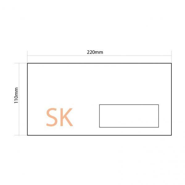 Конверт DL SK (110*220) с окном