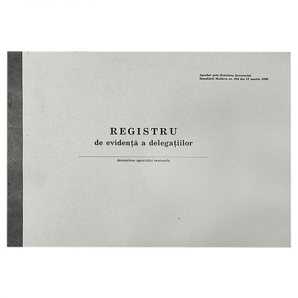 """Бухг книга """"Registru de evidenta a delegatiilor"""", офсетная бумага, 50 листов"""